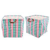 Circle Colours Cube Storage Basket 33 x 33 x 33cm