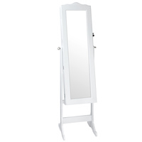 Mirror Jewellery Cabinet Storage 150cm White