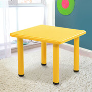 Kids Table Study Desk Children Furniture Plastic Yellow