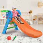 Kids Slide with Basketball Hoop Outdoor Indoor Playground Toddler Play