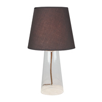Table Lamp Glass Falo Coffee Cylinder 21.5 x 39cm