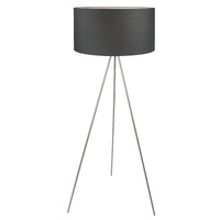 Floor Lamp Steel Silk Queena Black 50 x 135cm