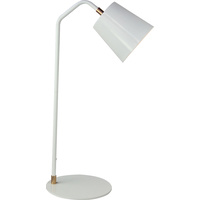 Luminite Scando Table Lamp White 23.5 x 20 x 55cm