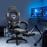 Gaming Office Chair Recliner Black Grey