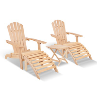 5-piece Adirondack Beach Chair and Table Set