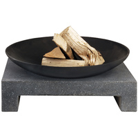 Fire Pit Granito Stone Base 46 x 58.5 x 14cm with Bowl 59 x 12cm