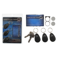 3 Wireless Key Finder Keyrings Locator Alarm 10m Range
