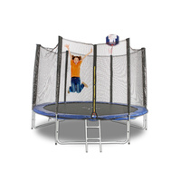 Trampoline 12ft/3.6m with Ladder and Basketball Hoop