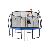 8ft/244cm Trampoline with Ladder and Basketball Hoop