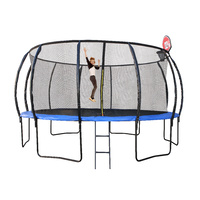 16ft/488cm Trampoline with Ladder and Basketball Hoop