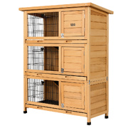 i.Pet Rabbit Hutch Hutches Large Metal Run Wooden Cage Waterproof Outdoor Pet House Chicken Coop Guinea Pig Ferret Chinchilla Hamster 91.5cm x 46cm x