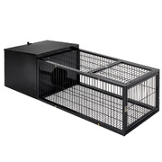 i.Pet Rabbit Cage Hutch Cages Indoor Outdoor Hamster Enclosure Pet Metal Carrier 122CM Length
