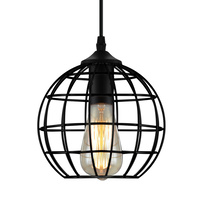 Artiss Pendant Light Metal Round Black