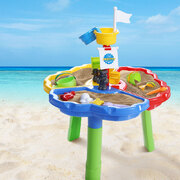 Kids Beach Sand and Water Sandpit Outdoor Table Childrens Bath Toys