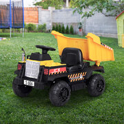 12V Electric Bulldozer Toys Cars Battery Yellow