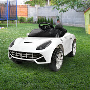 Kid's Electric Ride on Car Ferrari F12 Style - White