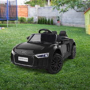 Kid's Electric Ride on Car Licensed Audi R8 - Black