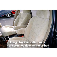 FRONT PAIR PREMIUM AUST MADE SHEEPSKIN SEAT COVERS FORD LASER HATCHBACK 4/2001 - 9/2002