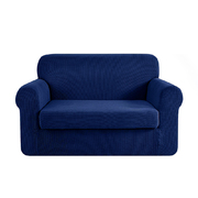 2-piece Sofa Cover Elastic Stretch Couch Covers Protector 2 Steater Navy