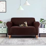 Sofa Cover Elastic Stretchable Couch Covers Coffee 2 Seater