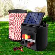 Electric Fence Energiser 3km Solar Powered Energizer Charger