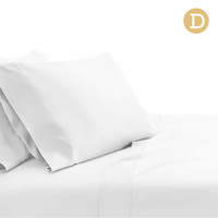 Giselle Bedding Double Size 1000TC Bedsheet Set - White