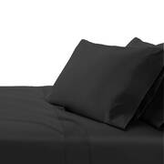 Giselle Bedding King Size 1000TC Bedsheet Set - Black
