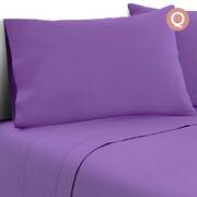 Queen Size 4 Piece Micro Fibre Sheet Set - Purple