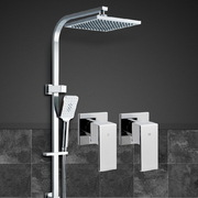 Cefito WELS 8'' Rain Shower Head Taps Square Handheld High Pressure Wall Chrome