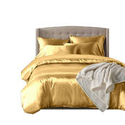 1000TC Silk Satin Duvet Cover Set in Double Size in Champagne Colour