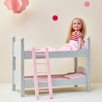 Olivia's Little World - Polka Dots Princess 45cm  Doll Furniture - Double Bunk Bed