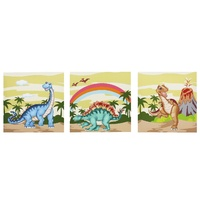 Fantasy Fields - Dinosaur Kingdom Canvas Wall Art Set