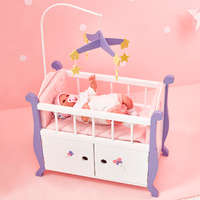 Olivia's Little World - Little Princess 45cm  Doll Furniture - Baby Nursery Bed with Cabinet