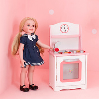 Olivia's Little World - Little Princess 45cm  Doll Furniture - Sweet Pink Kitchen
