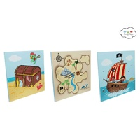 Fantasy Fields - Pirates Island Wooden Wall Art Set