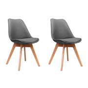 Dining Chairs DSW Retro Replica Eames Eiffel Kitchen Chair Cafe Grey