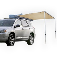 2M X 2.5M CAR AWNING ROOF TOP TENT OUTDOOR CAMPER TRAILER CAMPING PULL OUT 4WD