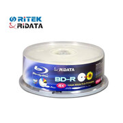 Ridata Recordable (write-once) Blue-Ray BD-R4x T25 (25GB) Printable Tube of 25pcs