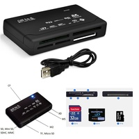 All in 1 USB Card Reader Multi SD XD MMC MS CF TF Mini SD M2 SDHC