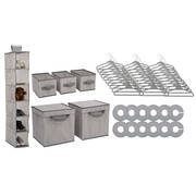 48 Piece Nursery Storage Set - Cool Grey