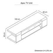 TV Cabinet Unit White Colour