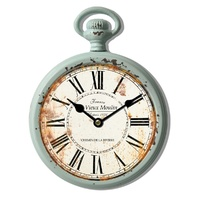 Classic 8'' Round Metal Clock With Hook