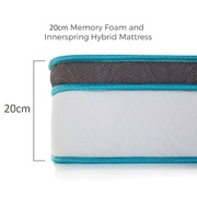Palermo Queen 20cm Memory Foam and Innerspring Hybrid Mattress