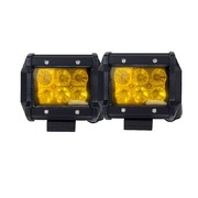 2x 4inch Flood LED Light Bar Offroad Boat Work Driving Fog Lamp Truck Yellow