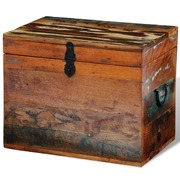 Reclaimed Storage Box Solid Wood