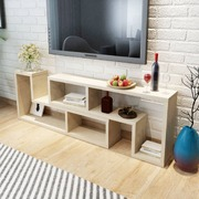 TV Cabinet Double L-Shaped Oak