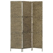 3-Panel Room Divider Brown 116x160 cm Water Hyacinth