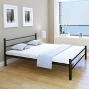 Bed Frame Black Metal Queen Size