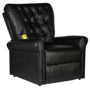 Massage Recliner Chair Black Faux Leather