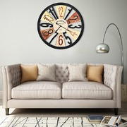 Multicolour Wall Clock Metal 60 cm